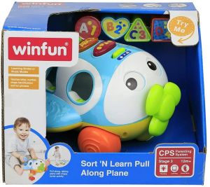 Winfun Sort N Learn Pull Along Plane 001505