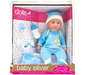 Dolls World Drink & Wet Oliver 38cm Doll 8819