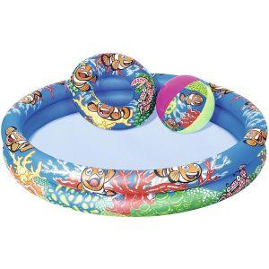 Bestway Inflatable Play Pool with 2-Ring Online in UAE