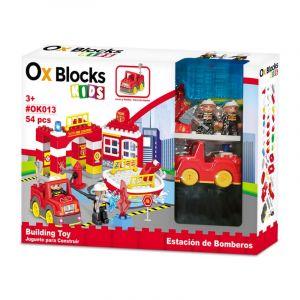 OX BLOCKS Kids Fire Station 56 pcs OK013