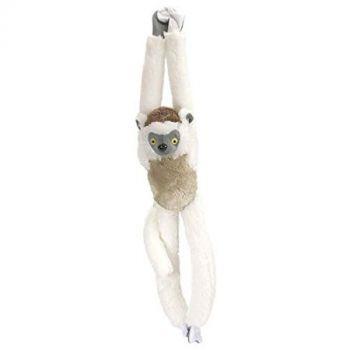 Wild Republic Verreaux Sifaka Hanging Plush Monkey Stuffed Animal