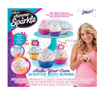 Shimmer N Sparkle Make Your Own Cup Cake Bath Bombs