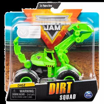 Monster Jam Official Dugg Dirt Squad Excavator Monster Truck Diecast Vehicle - Color Land Toys