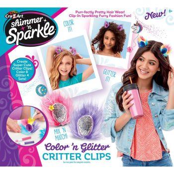 Cra Z Art Shimmer N Sparkle Color N Gem Critter Clips