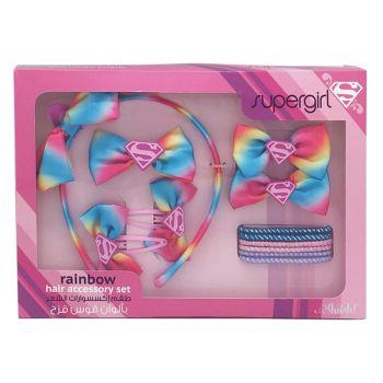 Supergirl Rainbow Hair Accessory Set