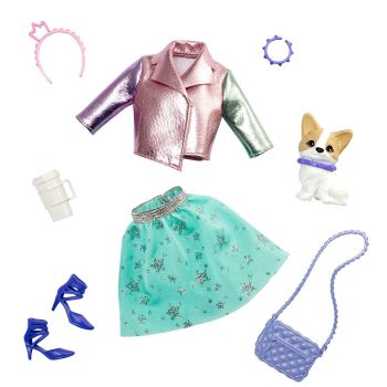 Barbie Princess Adventure Fashion Pack with Outfit, Pet, Shoes and 4 Accessories - GML63