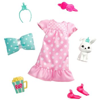 Barbie Princess Adventure Fashion Pack with Slumber Party Outfit, Pet and 4 Accessories - GML63