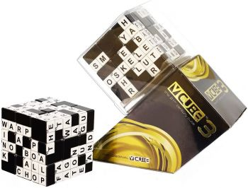 V-Cube Crossword 3 x 3 Straight Cube