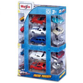 Maisto Fresh Metal Die Cast Vehicles Multi Color Pack of 20