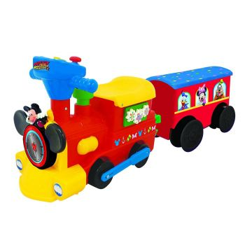 Kiddieland Disney Mickey Mouse Choo Choo Train With Tracks & Caboose