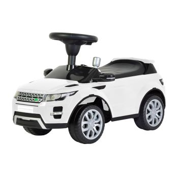 Range Rover Pushing Car White 348