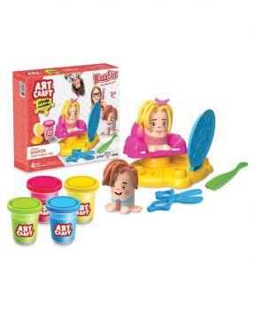 Art Craft Hairdresser Play Dough Set 9 Pieces 03458