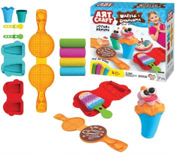 Art Craft Waffle And Ice Cream Dough Set 03556
