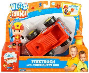 Vlad & Niki Fire Truck with Firefighter Niki 3inch 57670/57672