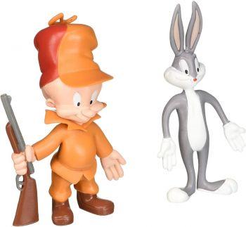 Bugs Bunny & Elmer Fudd Bendable Figure 2-Pack 48058