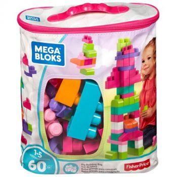 Mega Bloks First Builders Big Building Bag 60-Piece Pink online in Abu Dhabi