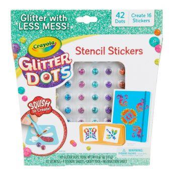 Crayola Glitter Dots Stencil Stickers Online in UAE