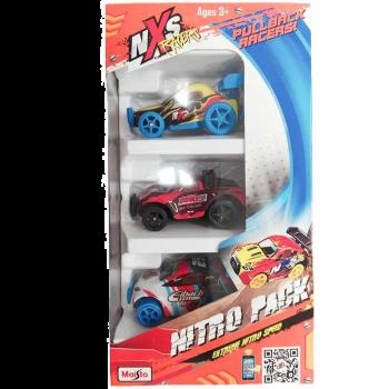 Maisto NXS Racers Pullback Nitro Pack Assorted