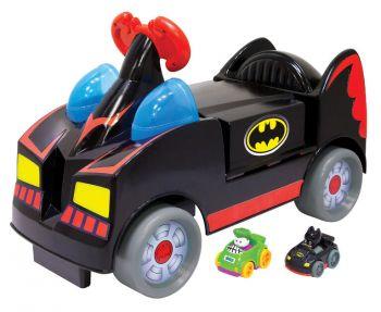 DC Universe Batman Wheelies Ride-On With Hot Wheels Batmobile Car 78233