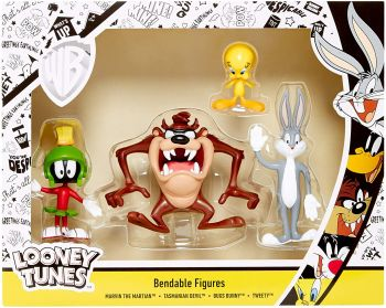 NJ Croce Looney Tunes 4pc Bendable Boxed Set 48089