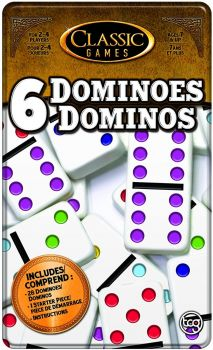 TCG Toys Double 6 Dominoes Game with Tin Case 1301B