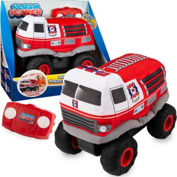 Plush Power Squeezable RC Racer Fire Truck