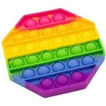 Octagon Fidget Popper Rainbow 211287