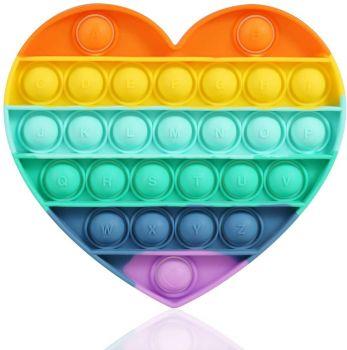 Heart Fidget Popper Rainbow 211290