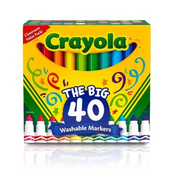 Crayola Ultra-Clean Washable Markers Broad Point 40ct 58-7858