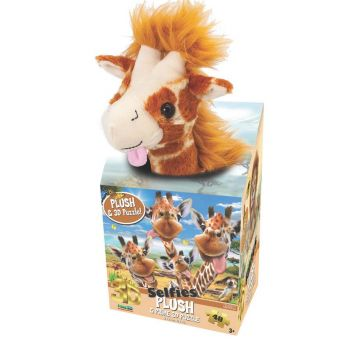 Howard Robinson Giraffe Selfie 3D Puzzle with Plush 48 Pieces 15802