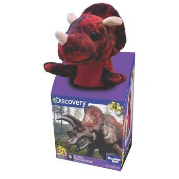 Discovery Triceratops Plush & Prime 3D Puzzle 48 Pieces 15813