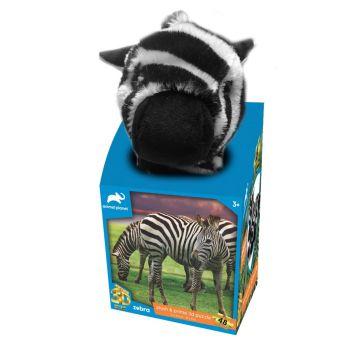 Animal Planet Zebra Plush & Prime 3D Puzzle 48 Pieces 15806