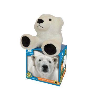 Animal Planet Polar Bear Plush & Prime 3D Puzzle 48 Pieces 15808