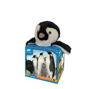 Animal Penguins Plush & Prime 3D Puzzle 48 Pieces 15809