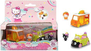 Jada Hello Kitty Cupcake + Melody Strawberry Car 253242001