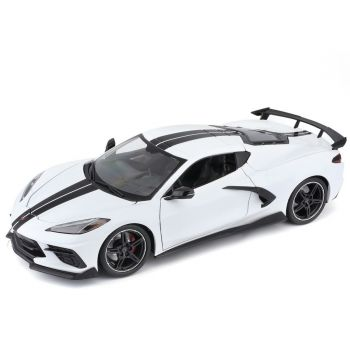 Maisto Chevy Corvette Stingray C8 Coupe with Blue High Wing 31455