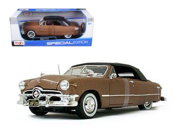 Maisto 1950 Ford Convertible Soft Top Brown/Bronze 1/18 D 31681