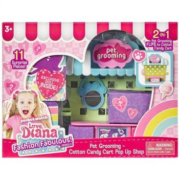 Love Diana Pop Up Playset Pet Grooming - Cotton Candy 33043
