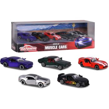 Majorette 1-64 5 Cars Set American Muscle Cars Gift Pack 212053168
