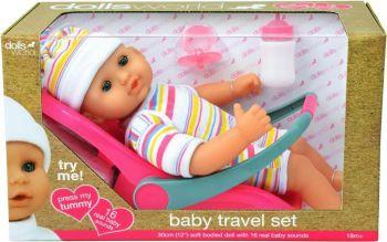 Dolls World Baby Travel Set 30cm 8866