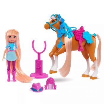 Winner's Stable Oakley & Rose Gold Doll & Horse Figure Set 11pc 53175