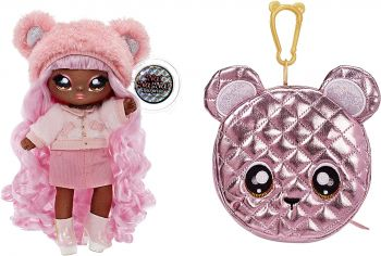 Na! Na! Na! Surprise 2-in-1 Pom Glam Cali Grizzly with Metallic Purse MGA-575139