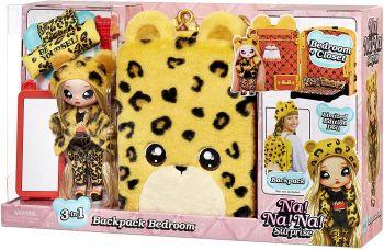 Na! Na! Na! Surprise 3-in-1 Backpack Bedroom Jennel Jaguar Playset MGA-575191