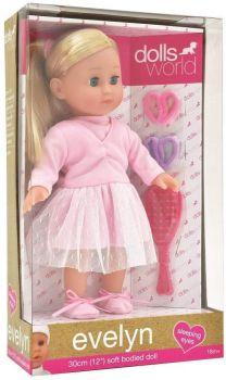 Dolls World Evelyn Ballerina Doll 12inch 8844