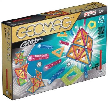 Geomag Glitter Panels Magnetic Blocks 68pcs 00533
