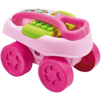Ecoiffier Maxi Abrick 40 Pieces Blocks With Pink Trolley Online in UAE