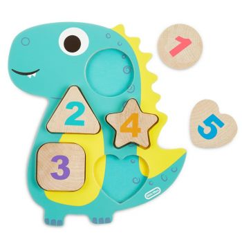 Little Tikes Wooden Critters Dino Number Puzzle 651199/652257