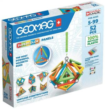 Geomag Supercolor Panels 52pc Magnetic Building Set 00378