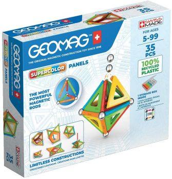 Geomag Supercolor Panels 35pc Magnetic Building Set 00377