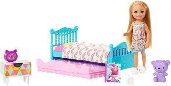Barbie Club Chelsea Blonde Doll & Bedroom Playset FDB32